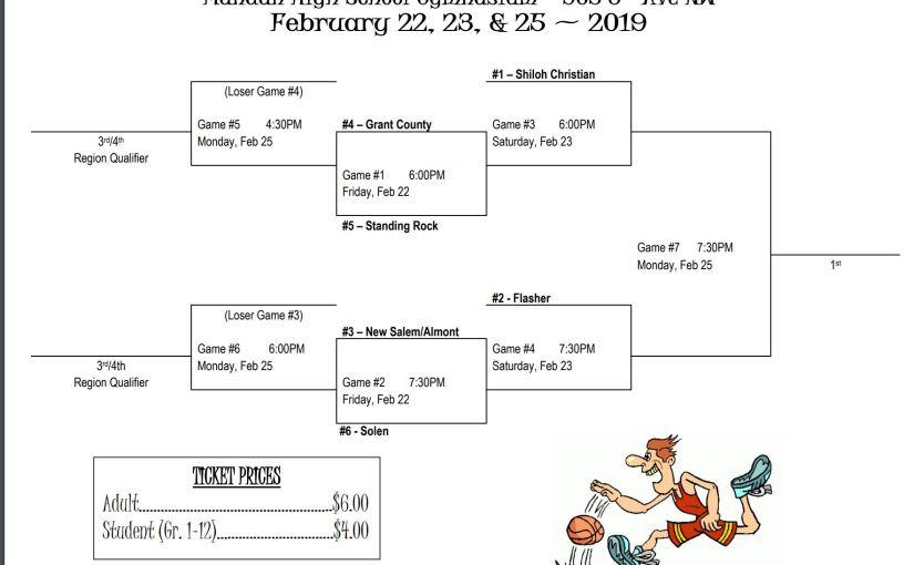 North Dakota Class B Boys Basketball District 9 TournamentBracket